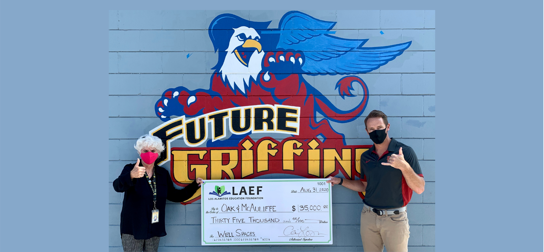 LAEF Donates $35,000 for Middle School Well Spaces!