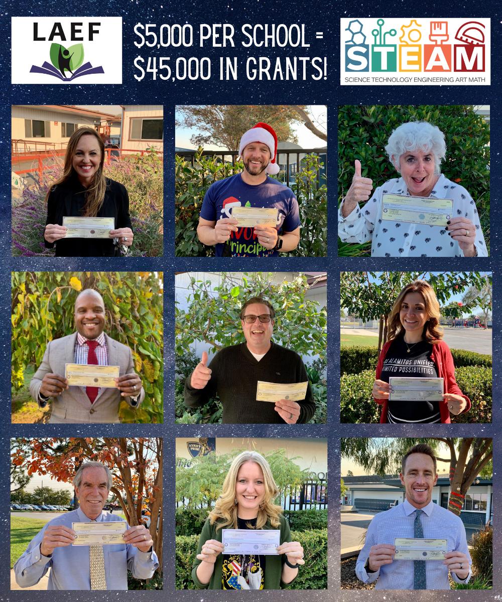 LAEF Donates $45,000 for STEAM!
